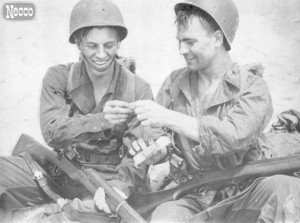 Necco Wafers were sent in care packages to soldiers in WWII.  I assume they killed Krauts by making them eat entire rolls.  My movie reviews are informative as fuck.