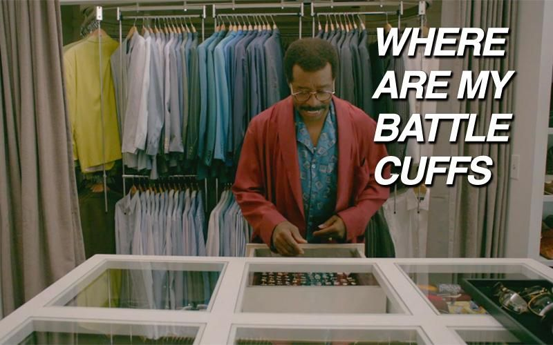 IF JOHNNIE COCHRAN'S CLOSET DOESN'T REALLY LOOK LIKE THIS I WILL BURN HOLLYWOOD TO THE GROUND
