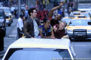 """""""Squaaaaaawk! We're in NYC, hee HAW, hee HAW!! This car has a roof that opens!!!"""""""